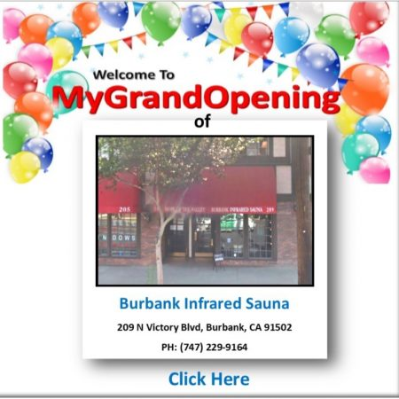 My Grand Opening Page BOM Burbank Infrared Suana
